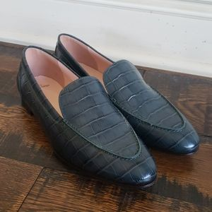 J Crew Academy loafers croc embossed leather AB073